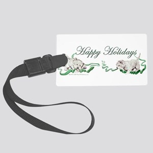 1 Happy Holidays Westies Large Luggage Tag