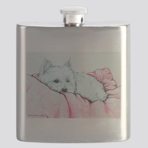 Sleepy Westie Flask
