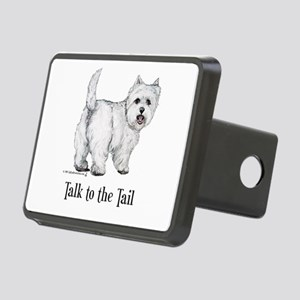 Westie Talk to the Tail Rectangular Hitch Cover