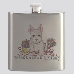 New kid in town 12x12 Flask