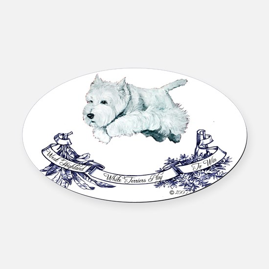 1 agility 2007.png Oval Car Magnet