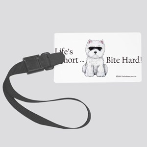 Lifes Short Bite Hard 11x9 Large Luggage Tag