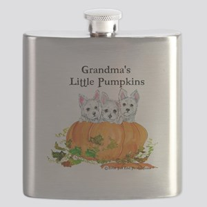 2008 Grandmas little pumpkins 11x11 Flask