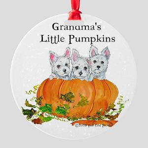2008 Grandmas little pumpkins 11x11 Round Orna