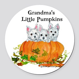 2008 Grandmas little pumpkins 11x11 Round Car