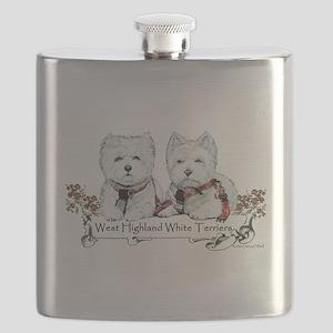 westies 10x6 generic (sophie and Wesley) Flask