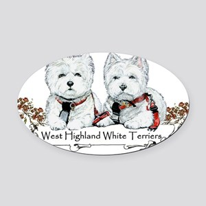 westies 10x6 generic (sophie and Wesley) Oval