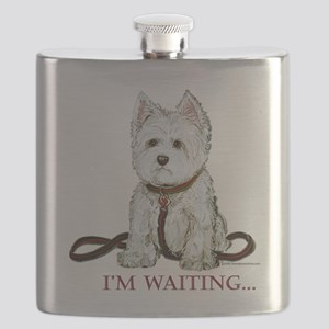Westie waiting 9x9 2006 Flask