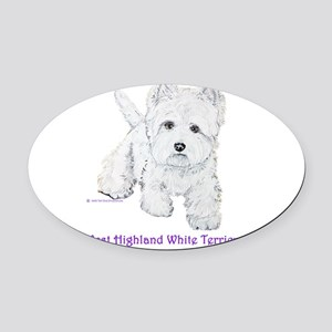 Westies Forever 2006 8x9 Oval Car Magnet