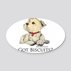 Biscuits6x6 2 Oval Car Magnet