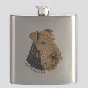 Airedale Terrier Good Dog Flask