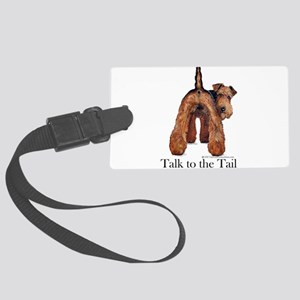 Airedale Terrier Talk Large Luggage Tag