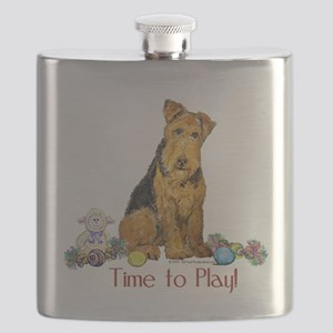 Time to play mug 14x7 Flask