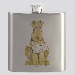 Airedale Lakeland Welsh Terrier Flask