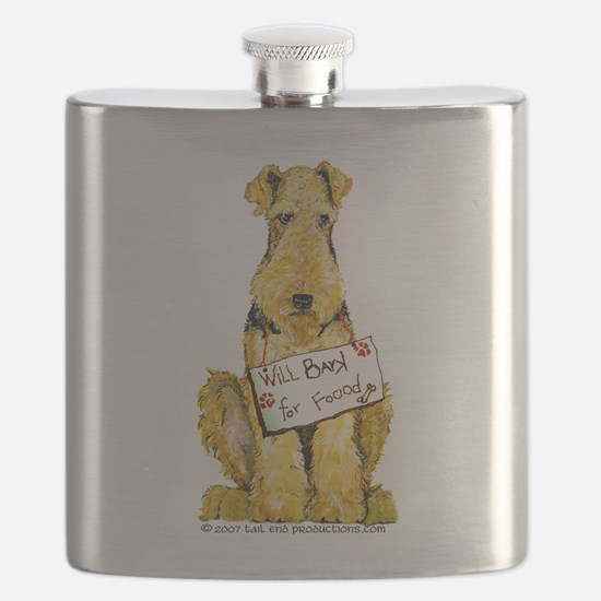 Airedale Lakeland Welsh Terrier Flask