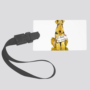 Airedale Lakeland Welsh Terrier Large Luggage Tag
