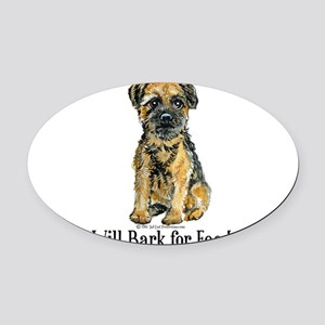 Bark for Food.png Oval Car Magnet