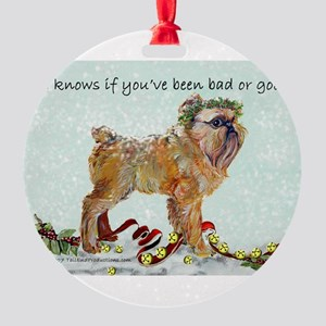 Brussels Griffon Christmas Round Ornament