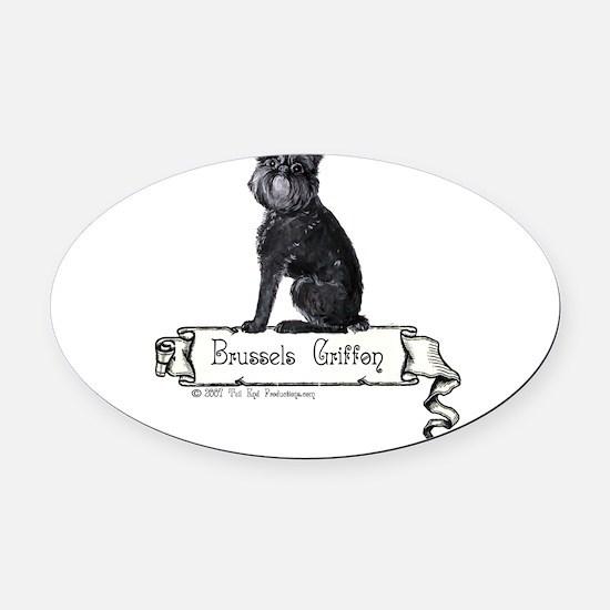 banner black griffie.png Oval Car Magnet