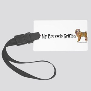 Brussels Heart shirt form  Large Luggage Tag