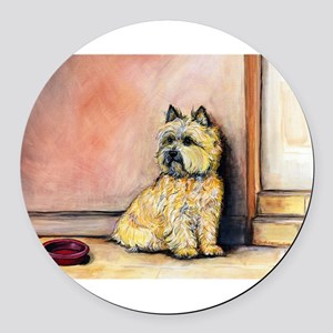 Cairn Terrier cards 5.5x7.5 Round Car Magnet