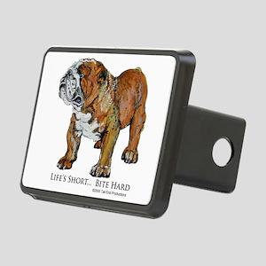 Bulldogs Life Motto Rectangular Hitch Cover
