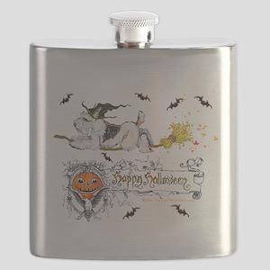 Fox Witch 5x7 Flask