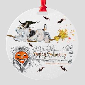Fox Witch 5x7 Round Ornament