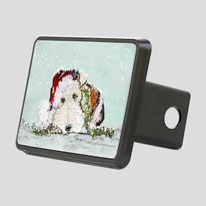 fox Santa card Rectangular Hitch Cover