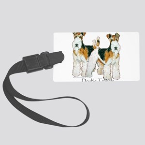 Double Trouble 11x11 Large Luggage Tag
