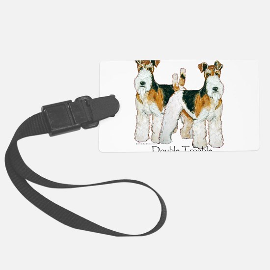 Double Trouble 11x11.png Luggage Tag