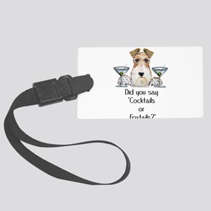 Foxtails Large Luggage Tag