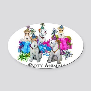 Party trans 13x12.png Oval Car Magnet