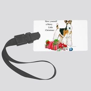 Merry Little Christmas 11x11 Large Luggage Tag