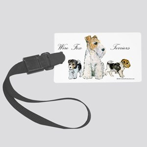Fox Family 10x6 Large Luggage Tag