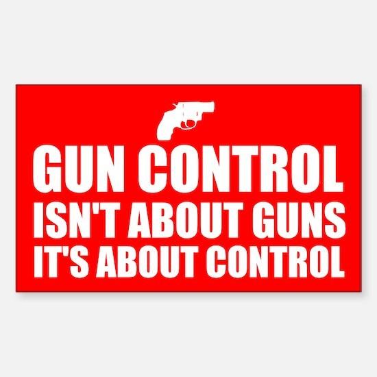 Gun Control 3 Sticker (Rectangle)