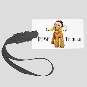 Irish Terrier Santa Large Luggage Tag