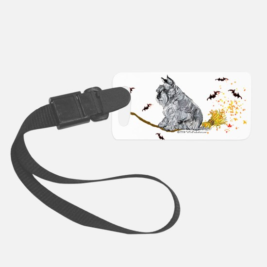 2008 schnauzer broom only 12x6.png Luggage Tag