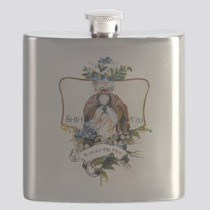 Shih Tzu Forget Me Not Flask