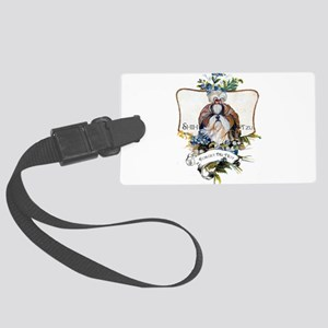 Shih Tzu Forget Me Not Large Luggage Tag