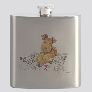 Welsh Terrier World Flask