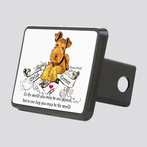 Welsh Terrier World Rectangular Hitch Cover