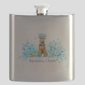 dog wash 14 x 6 Flask