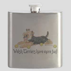 Welsh Terrier Fun Flask