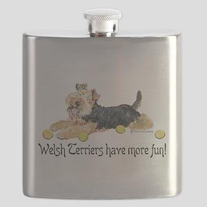 Welsh Terrier Fun Flask