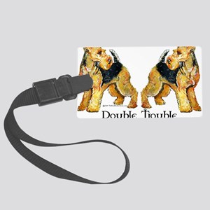Double Trouble Large Luggage Tag