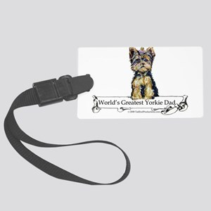 Worlds greatest Dad Large Luggage Tag