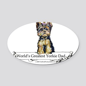 Worlds greatest Dad Oval Car Magnet