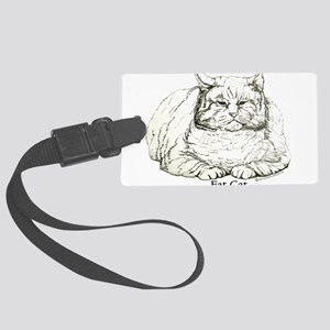 Fat Cat 10x6 Large Luggage Tag
