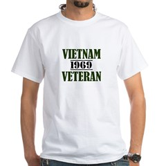VIETNAM VETERAN 69 White T-Shirt